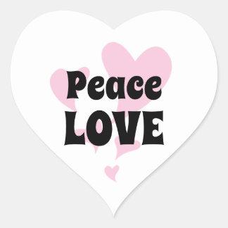 Adesivo Coração Amor da paz com flutuação de corações cor-de-rosa