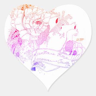 Adesivo Coração Amor de Sonoma (arco-íris Ombré)