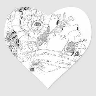 Adesivo Coração Amor de Sonoma (B&W)