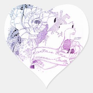 Adesivo Coração Amor de Sonoma (Ombré azul)