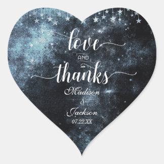 Adesivo Coração Amor do casamento da aguarela & favor golpeados