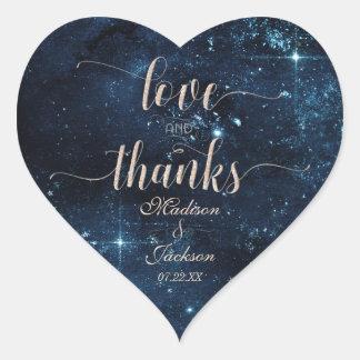 Adesivo Coração Amor do casamento do céu da estrela & favor
