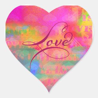 Adesivo Coração Amor do coração do dia dos namorados