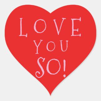 Adesivo Coração Amor do dia dos namorados você assim