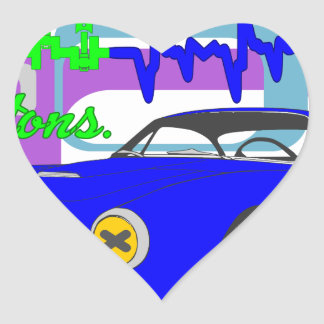 Adesivo Coração amor F250Lusso da paixão dos pistões
