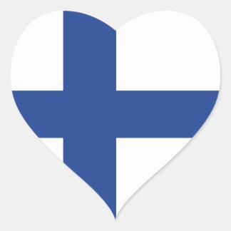 Adesivo Coração Amor Finlandia, bandeira finlandesa