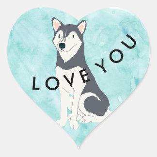 Adesivo Coração Amor ronco azul gelado você