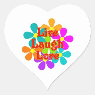 Adesivo Coração Amor vivo do riso do divertimento