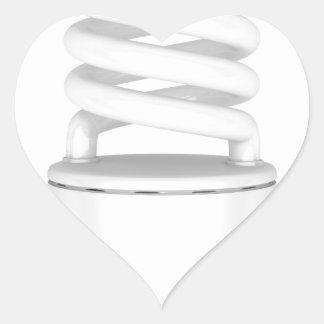 Adesivo Coração Ampola fluorescente