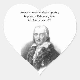 Adesivo Coração André Ernest Modeste Gretry
