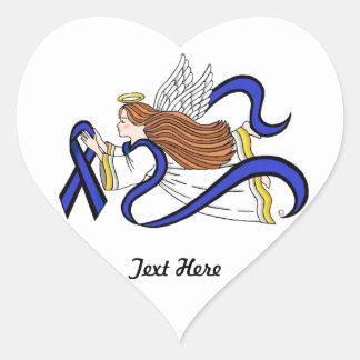 Adesivo Coração Anjo fino de Blue Line