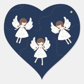 Adesivo Coração Anjos do Natal