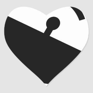 Adesivo Coração Antena parabólica