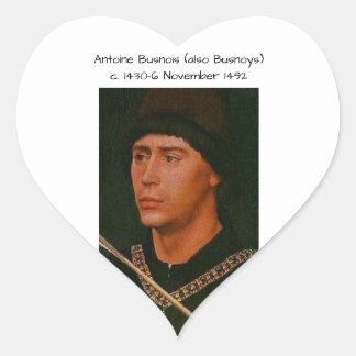 Adesivo Coração Antoine Busnois igualmente Busnoys