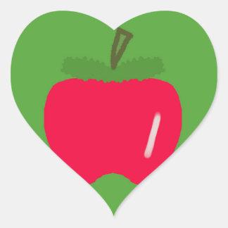 Adesivo Coração Apple para o professor