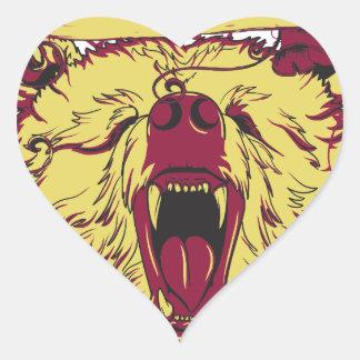 Adesivo Coração aqui nós estamos, macaco bonito