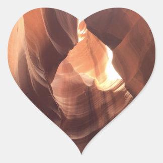 Adesivo Coração ARIZONA - garganta superior C do antílope - rocha