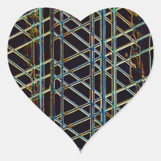 Adesivo Coração Arquitetura abstrata
