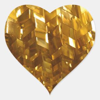 Adesivo Coração Arte abstracta do teto do ouro