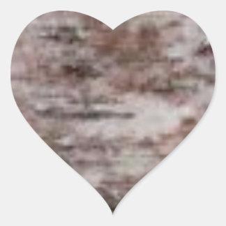 Adesivo Coração arte branca escamoso do latido