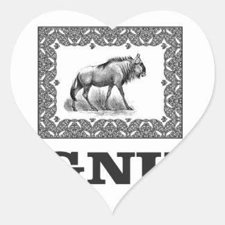 Adesivo Coração Arte do poder do Gnu