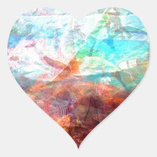 Adesivo Coração Arte subaquática de inspiração bonita da cena