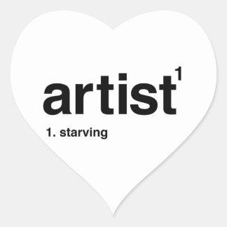 Adesivo Coração artista