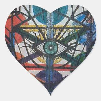 Adesivo Coração Árvore de vida de incandescência