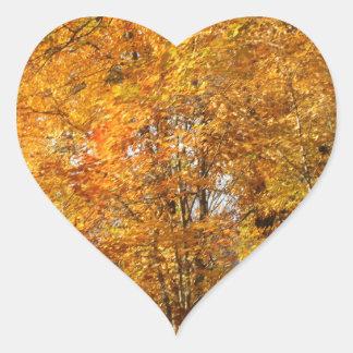 Adesivo Coração Árvores da queda