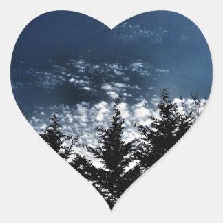 Adesivo Coração Árvores noroestes da skyline