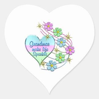 Adesivo Coração As avós fazem a faísca da vida