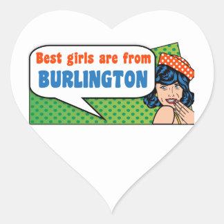 Adesivo Coração As melhores meninas são de Burlington