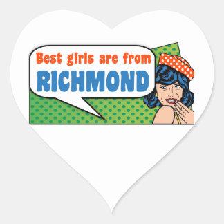 Adesivo Coração As melhores meninas são de Richmond