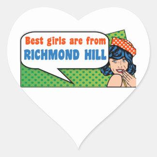 Adesivo Coração As melhores meninas são do monte de Richmond