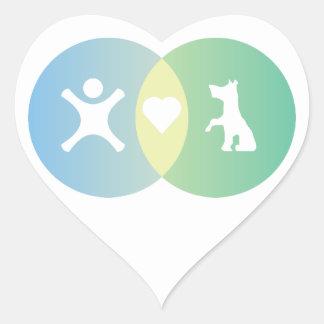 Adesivo Coração As pessoas do coração perseguem o diagrama de Venn