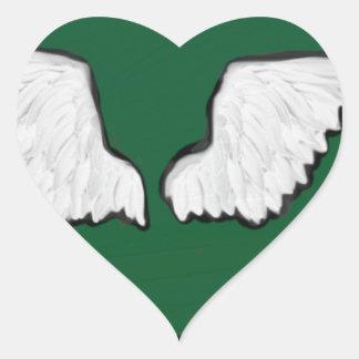 Adesivo Coração Asas resistentes de Norht Dakota