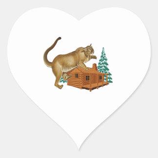 Adesivo Coração Ataque súbito da cabine