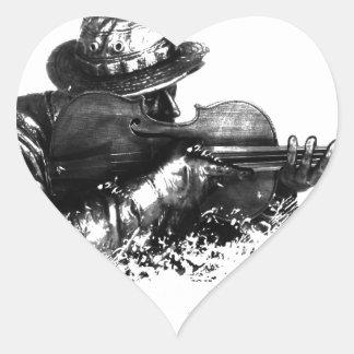 Adesivo Coração atirador furtivo do violino