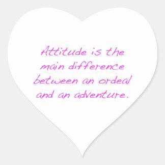 Adesivo Coração Atitude - calvário ou aventura