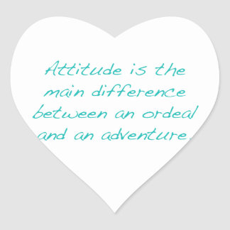 Adesivo Coração Atitude -- calvário ou aventura (verde)