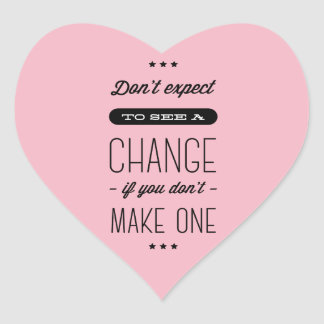 Adesivo Coração Atitude, sucesso, objetivos, rosa inspirador das