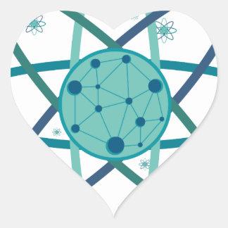 Adesivo Coração Átomo