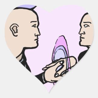 Adesivo Coração Auto paralelo