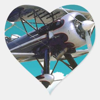 Adesivo Coração Avião velho