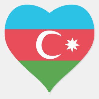Adesivo Coração Azerbaijao