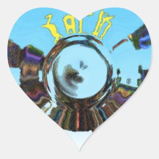 Adesivo Coração Azul abstrato