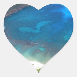 Adesivo Coração Baía Havaí de Hanauma