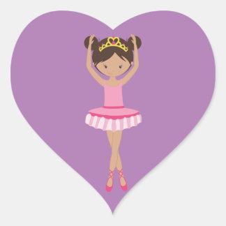 Adesivo Coração Bailarina