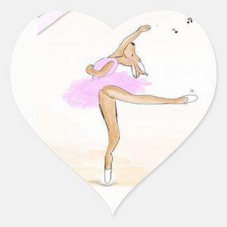 Adesivo Coração Bailarina Kängaru dançada autocolante herz