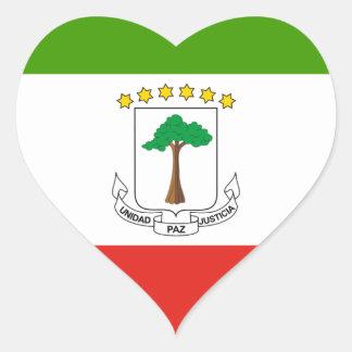 Adesivo Coração Baixo custo! Bandeira da Guiné Equatorial